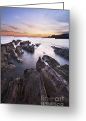 Devon Greeting Cards - Thurlestone Rocks Greeting Card by Richard Garvey-Williams