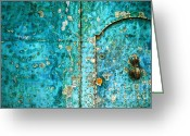 Peeling Paint Greeting Cards - Ti amo  I love you Greeting Card by Silvia Ganora