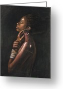 Originals Pastels Greeting Cards - Tia Greeting Card by L Cooper