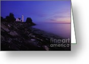 Great Point Greeting Cards - Tibbetts Point Lighthouse Sunset - FM000014 Greeting Card by Daniel Dempster