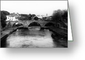 Houses Posters Greeting Cards - Tiber River Greeting Card by John Rizzuto