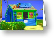 Willows Digital Art Greeting Cards - Ticket Shack Greeting Card by Barbara McDevitt
