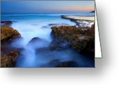 Tides Greeting Cards - Tidal Bowl Boil Greeting Card by Mike  Dawson