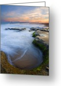 Ebb Greeting Cards - Tidal Bowl Greeting Card by Mike  Dawson
