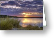 Tonemapped Greeting Cards - Tidal Estuary Greeting Card by Phill  Doherty