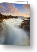 Surge Greeting Cards - Tidal Surge Greeting Card by Mike  Dawson