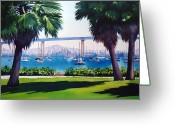 Architecture Painting Greeting Cards - Tide Lands Park Coronado Greeting Card by Mary Helmreich