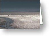 People Walking Greeting Cards - Tidelands Greeting Card by Marc Huebner