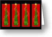Christmas Trees Greeting Cards - Tidings from Trees Greeting Card by Lisa Knechtel