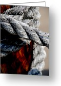 Ropes Greeting Cards - Tied together Greeting Card by Susanne Van Hulst