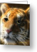 Smudgeart Greeting Cards - Tiger Cub Greeting Card by Madeline M Allen