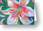 Patricia Taylor Greeting Cards - Tiger Lily Passion Greeting Card by Patricia Taylor
