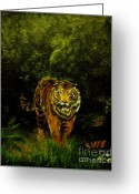 Mammalas Greeting Cards - Tiger majesty Greeting Card by Peter Kulik