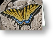 Style Reliefs Greeting Cards - Tiger Swallowtail Greeting Card by Ken Hall
