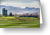 Professional Golfers Greeting Cards - Tiger Time Greeting Card by Michael Biggs