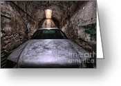 Horror Car Greeting Cards - Tight Squeeze Greeting Card by Andrew Paranavitana
