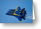 Jet Greeting Cards - Tight With My Brothers Greeting Card by Adam Romanowicz