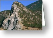 Fault Block Greeting Cards - Tilted Mountain Greeting Card by Kaj R. Svensson