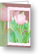 Tilup Garedn Art 4 Greeting Cards - Tilup Garden Art 4 Greeting Card by Debra     Vatalaro