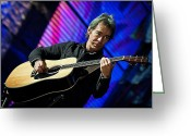 Celebrities Greeting Cards - Tim Reynolds on Guitar Greeting Card by The  Vault