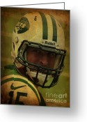 Award Greeting Cards - Tim Tebow - New York Jets - Timothy Richard Tebow Greeting Card by Lee Dos Santos