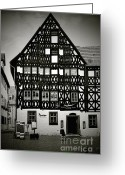 Weimar Greeting Cards - Timber-frame house Weimar Greeting Card by Christine Till