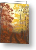 Forest Pastels Greeting Cards - Timber Road Greeting Card by Garry McMichael