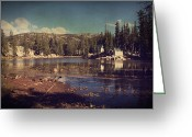 Cabins Greeting Cards - Time Always Reveals Greeting Card by Laurie Search