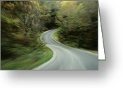 Time Exposures Greeting Cards - Time-exposed View Of Route 49 Taken Greeting Card by Raymond Gehman