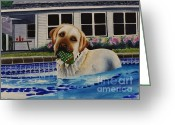 Pool Break Greeting Cards - Time For A Break Greeting Card by Joy DiNardo Bradley         DiNardo Designs