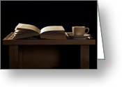 Cup Photo Greeting Cards - Time For A Coffee Greeting Card by Joana Kruse