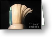 Toothbrush Greeting Cards - Time for a New Toothbrush Greeting Card by Yali Shi