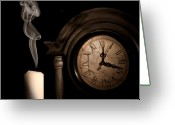 Midnight Greeting Cards - Time for Bed Greeting Card by Tom Mc Nemar