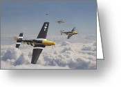 Military Aircraft Greeting Cards - Time for Home Greeting Card by Pat Speirs