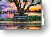 Intercoastal Greeting Cards - Time for Reflection Greeting Card by Debra and Dave Vanderlaan