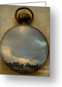 Surrealist Digital Art Greeting Cards - Time free Greeting Card by Martine Roch