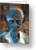 Portraits Greeting Cards - Time Goes By Greeting Card by Bob Salo