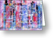 Representative Abstract Greeting Cards - Time in the City Greeting Card by David Raderstorf