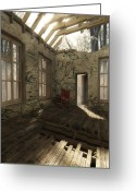 Ruin Greeting Cards - Time Out Greeting Card by Cynthia Decker