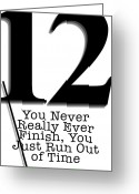 Number 12 Greeting Cards - Time Greeting Card by SouthernCottage