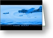 Flying Greeting Cards - Time Warp Greeting Card by Mike McGlothlen