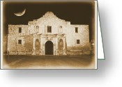 Old Photo Greeting Cards - Timeless Alamo Greeting Card by Carol Groenen