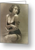 Vintage Photographs Greeting Cards - Timeless Greeting Card by Cris Jan  Lim