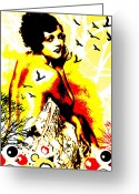 Nude Mixed Media Greeting Cards - Timeless Flight Greeting Card by Chris Andruskiewicz