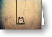Surreal Photo Greeting Cards - Timeless Greeting Card by Ian Barber