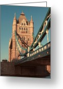 Side View Greeting Cards - Timeless Tower Bridge Greeting Card by Jasna Buncic