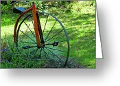 High Wheel Greeting Cards - Times Gone By Greeting Card by Carolyn Marshall
