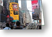 Randi Shenkman Greeting Cards - Times Square 1 Greeting Card by Randi Shenkman