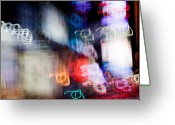 Famous Landmark Greeting Cards - Times Square Greeting Card by David Bowman
