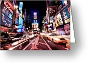 Advertisement Greeting Cards - Times Square, Manhattan, New York Greeting Card by Josh Liba